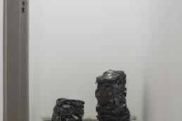 Socrates Fatouros | Sculpture II, 2015, bitumen sheets, 60X20X60cm