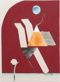 Stelios Karamanolis | Untitled, acrylic and colored pencils o canvas, 140x104cm, 2019