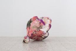 Alexandos Vasmoulakis | Afterparty(head), iron, foam, gouache, 70x90x135 cm, 2020