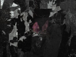 Anastasia Mina | Detail, Untitled VIII, archival pigment print, charcoal and graphite paper, 152x310cm, 2017